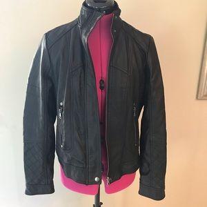 NWOT Black Pleather Moto Jacket